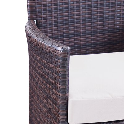 Morrisania 4 Piece Seating Group with Cushion Fabric: Tan