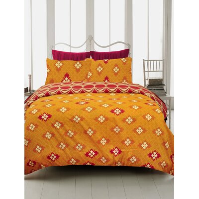 Global Persimmon 3 Piece Duvet Cover Set Size: Queen