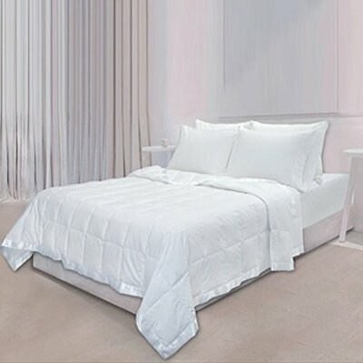 Down Throw Cotton Blanket Color: White, Size: King