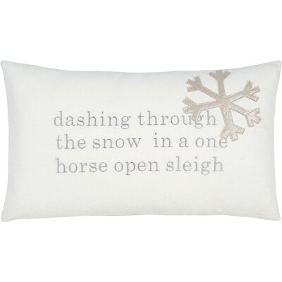 Tinsel Town One Horse Sleigh Lumbar Pillow