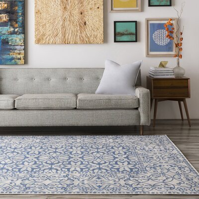 Vanier Beige/Navy Area Rug Rug Size: Rectangle 710 x 106