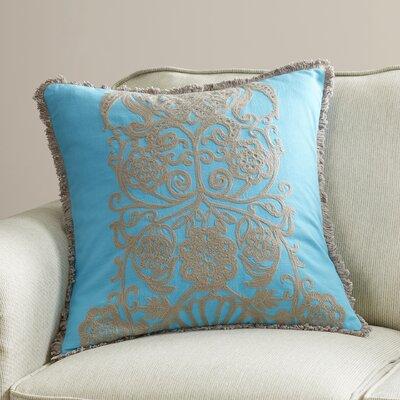 Bourake Cotton Slub Throw Pillow Color: Turquoise