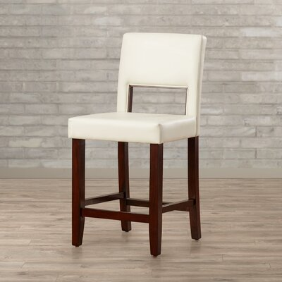Matos 24 Bar Stool Upholstery: White