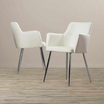 Alfie Arm Chair Upholstery: Faux Leather - White