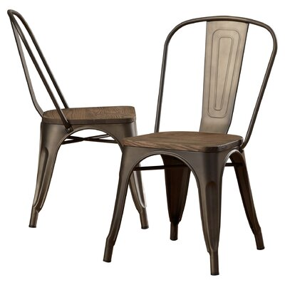 Fortuna Side Chair Color: Bronze