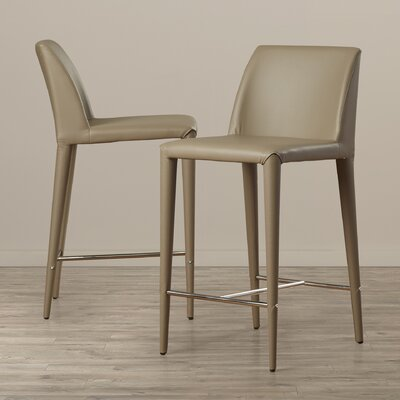 Zackary 26 inch Bar Stool Upholstery: Taupe