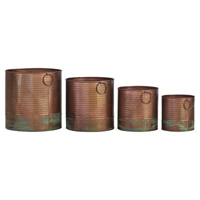 Macon 4 Piece Metal Pot Planter Set
