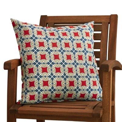 Nyla Outdoor Throw Pillow Color: Red