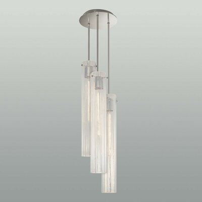 Libro 3-Light Cascade Glass Pendant