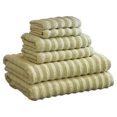 Knopf 6 Piece Towel Set Color: Sage