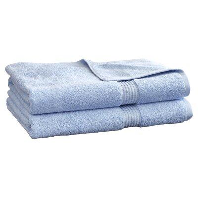 Hyde 600GSM Premium Combed Cotton 2 Piece Bath Sheet Set Color: Light Blue