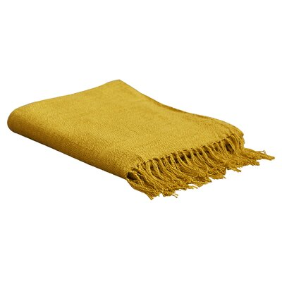 Euharlee Throw Blanket Color: Mustard