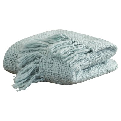 Roopville Throw Blanket Color: Spa Blue