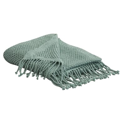 Buckhead Ridge Cotton Throw Blanket Color: Teal