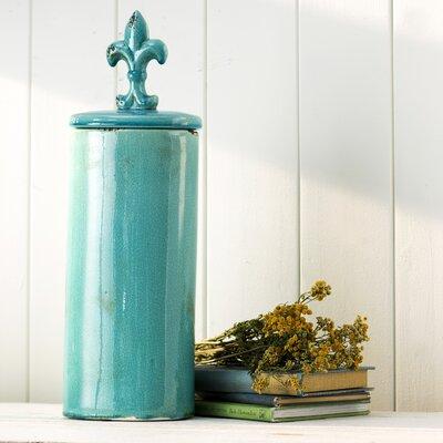 Lison Decorative Jar Color: Blue