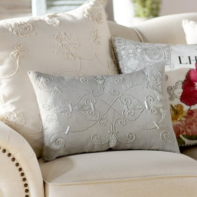 Pensee Throw Pillow Color: Gray, Size: 13 x 19, Fill Material: Polyester