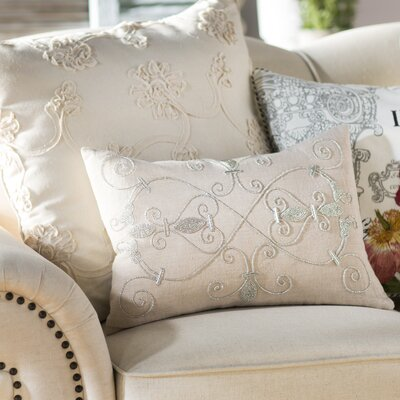 Pensee Throw Pillow Color: Light Gray, Size: 20 x 20, Fill Material: Polyester