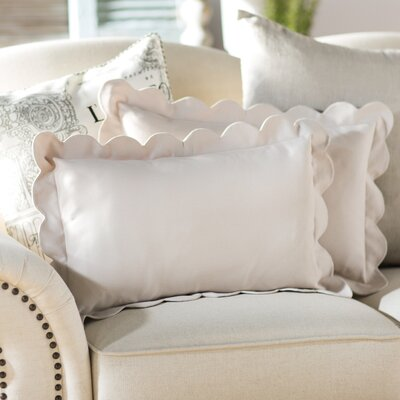 Circee Lumbar Pillow Color: Antique White