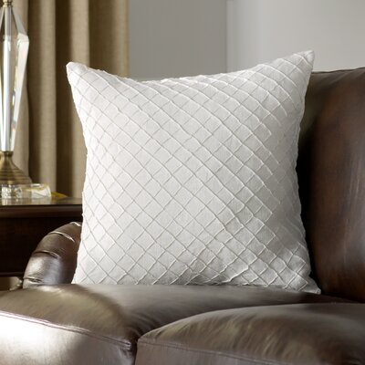 Zurich Linen Throw Pillow Size: 20 H x 20 W x 4 D, Color: Ivory