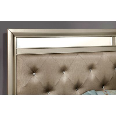 Upholstered Platform Headboard Size: King