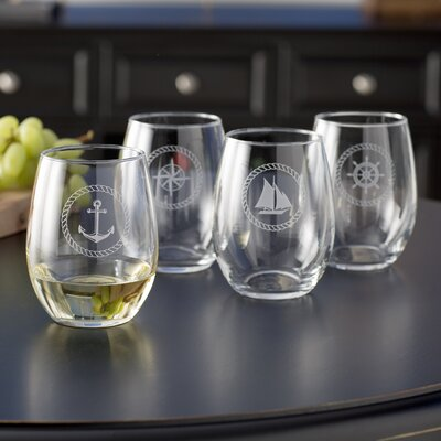 Westport Nautical Stemless 21 oz. Wine Glass