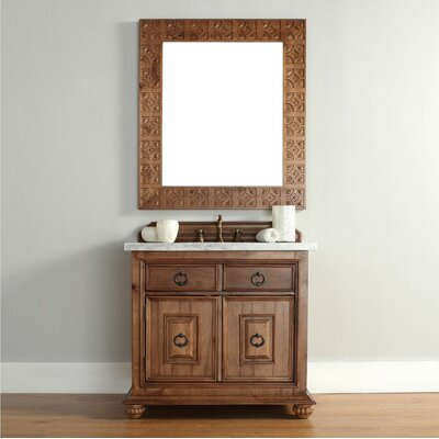 Mykonos 36 Single Bath Vanity Top Finish: Carrara White