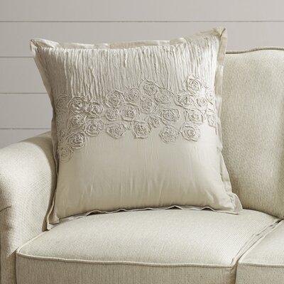 Lierre Cotton Voile Throw Pillow Color: Natural
