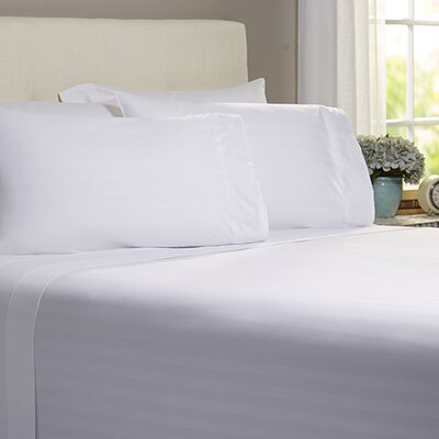 Thoreau 4 Piece 400 Thread Count Sheet Set Size: Queen, Color: White