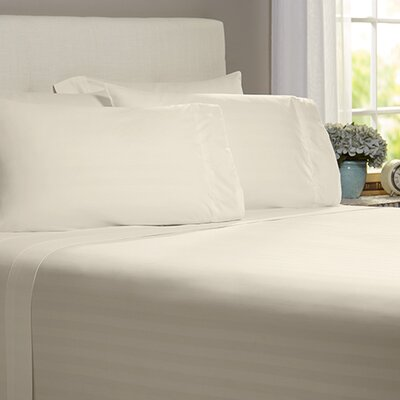 Thoreau 4 Piece 400 Thread Count Sheet Set Size: King, Color: Ivory
