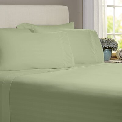 Thoreau 4 Piece 400 Thread Count Sheet Set Size: Queen, Color: Sage