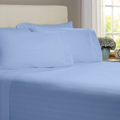 Thoreau 4 Piece 400 Thread Count Sheet Set Size: Queen, Color: Light Blue