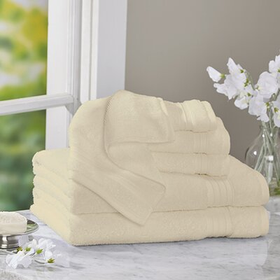 Clarke Cotton 6 Piece Towel Set Color: Vanilla