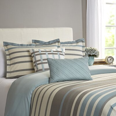 Marquez 5 Piece Duvet Cover Set Size: Full/Queen, Color: Aqua