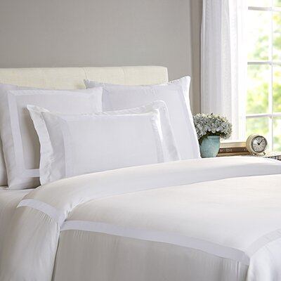 Chopin Duvet Cover Size: King, Color: White / White