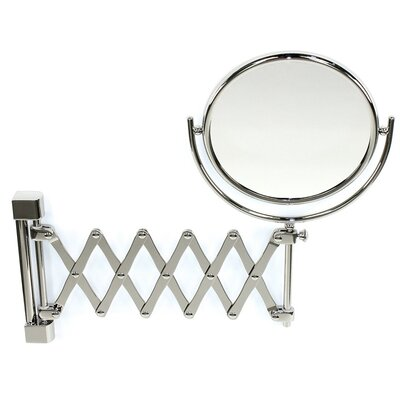 Wall Mounted Extendable Double Face Magnifying Mirror Windisch 99148-CRO-3x