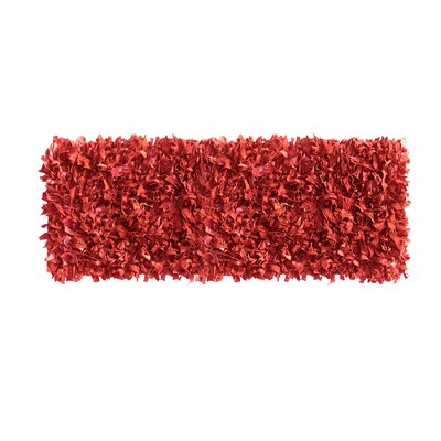 Handmade Red Area Rug Rug Size: Runner 2 x 77