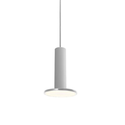 Cielo 1-Light Mini Pendant Color: Satin Aluminum, Cord Color: Gray