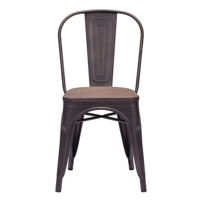 Lawton Side Chair (Set of 2) Finish: Rustic Wood