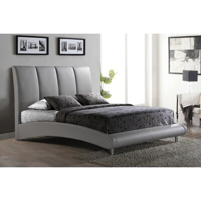 Upholstered Platform Bed Size: Queen, Color: Grey