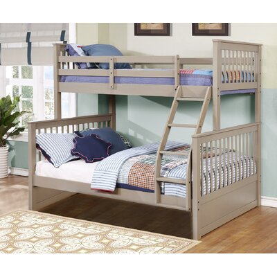 Kelli Twin Over Full Bunk Bed Without Drawers Finish: Sand Wash