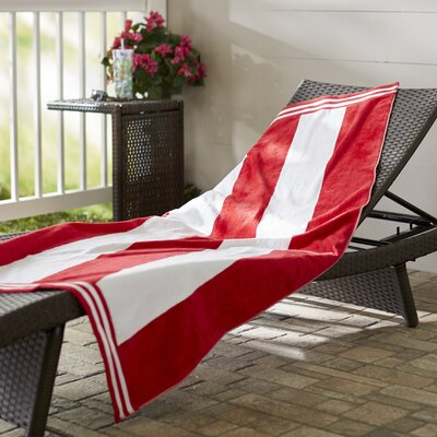 Wayfair Basics Striped Beach Towel Color: Red