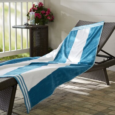 Wayfair Basics Striped Beach Towel Color: Turquoise