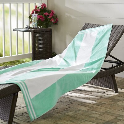 Wayfair Basics Striped Beach Towel Color: Mint