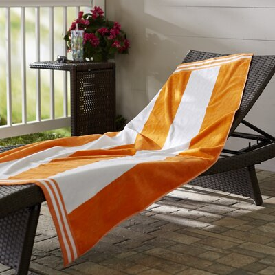 Wayfair Basics Striped Beach Towel Color: Orange
