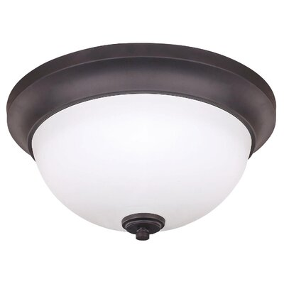 Stivers 2-Light Flush Mount Finish: Oil Rubbed Bronze, Size: 15 H