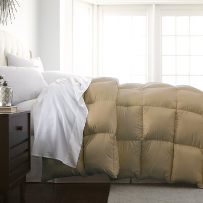 Veedersburg Luxurious Premier Quality Down Alternative Comforter Color: Khaki, Size: King