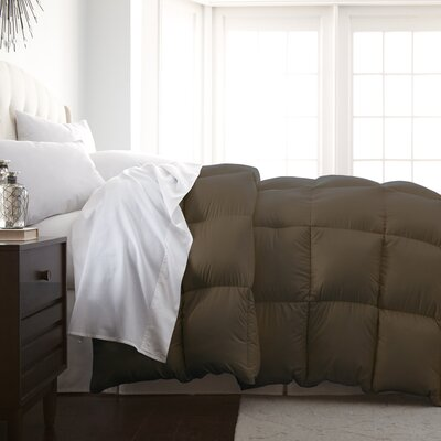 Veedersburg Luxurious Premier Quality Down Alternative Comforter Color: Chocolate, Size: Full / Queen