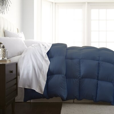 Veedersburg Luxurious Premier Quality Down Alternative Comforter Color: Navy, Size: King