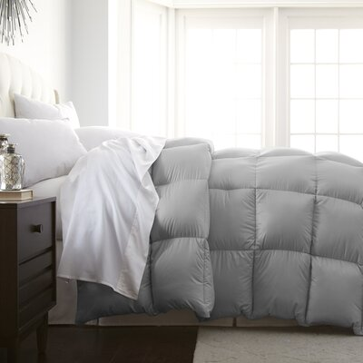 Veedersburg Luxurious Premier Quality Down Alternative Comforter Color: Platinum, Size: Full / Queen