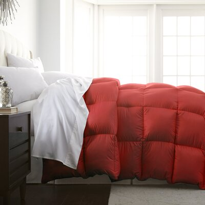 Abita Luxurious Premier Quality Down Alternative Comforter Color: Brick, Size: King